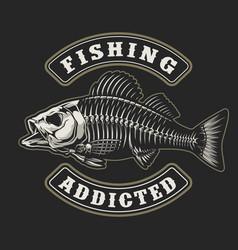 Fishing vintage badge vector