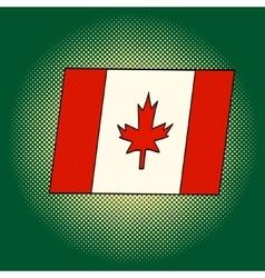 Flag of Canada pop art vector image