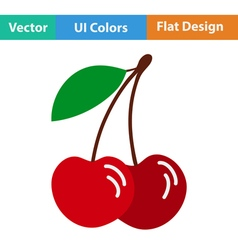 Flat design icon of Cherry vector