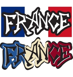 France word graffiti different style vector image