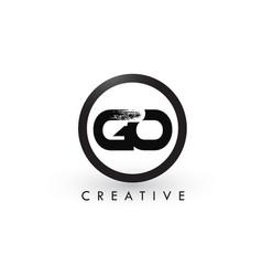 Go brush letter logo design creative brushed vector