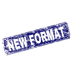 Grunge new format framed rounded rectangle stamp vector