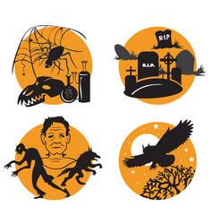 Halloween set 5 vector