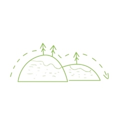 Hiking In The Mountains Simple Map vector