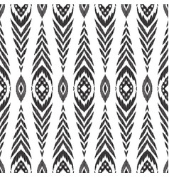 ikat seamless pattern fashion wallpaper vector image