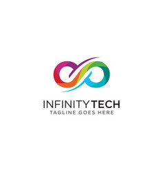 Infinity tech logo infinity logo limitless logo vector