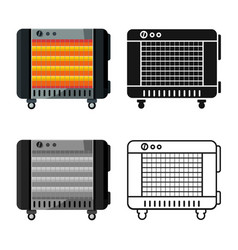 Isolated object heater and device logo graphic vector