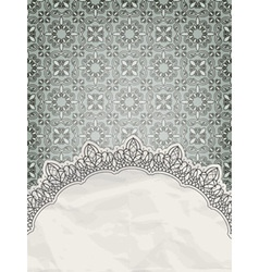 lacy frame vector image