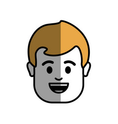 Man head and face with hair vector