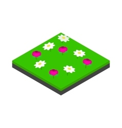 Meadow landscape icon isometric 3d style vector image