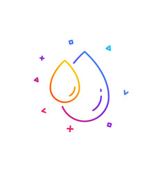 Oil drop line icon hair care serum sign vector