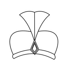 outline hat wear wise kign of manger vector image