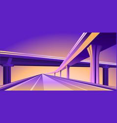 Overpass viaduct bridge vector