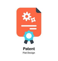 Patent flat vector