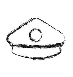 police cap icon vector image