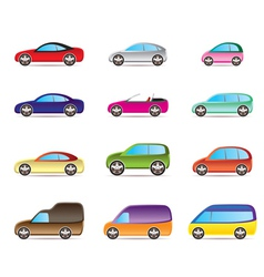 Popular types of cars vector