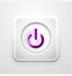 power button technology logo digital art techno vector image