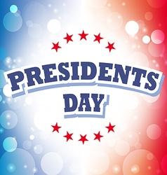 Presidents Day USA card on celebration background vector