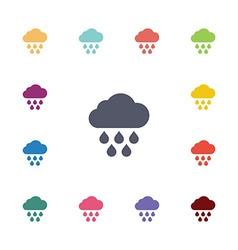 rain flat icons set vector image