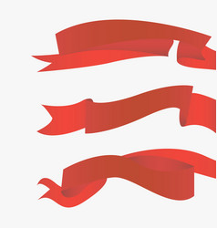 red ribbons horizontal vector image