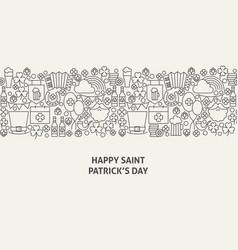 saint patrick day banner concept vector image