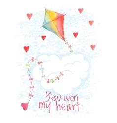 Saint Valentines Day hand drawn card vector