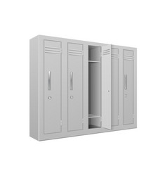 School gym lockers interior element vector