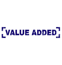 Scratched textured value added stamp seal inside vector