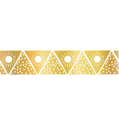 seamless border gold foil triangles boho vector image