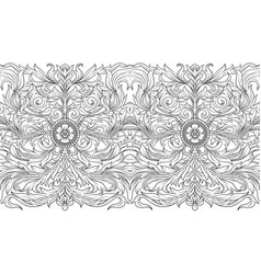 seamless pattern background in baroque rococo vector image