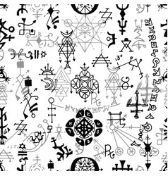 Seamless pattern with black and white symbols vector