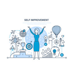 Self improvement development personal growth vector