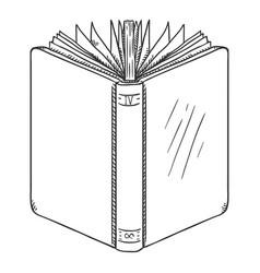 sketch open hardcover book vector image