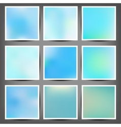 Smooth colorful backgrounds collection with aged vector
