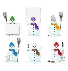 snowmans vector image