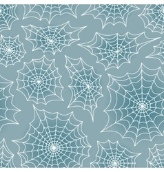 Spiders web seamless background pattern vector image