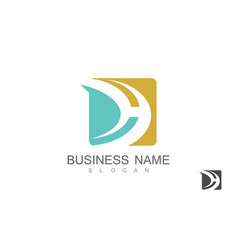 square letter d business logo vector image
