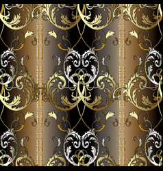 striped baroque seamless pattern vector image