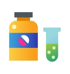 Tablet pills bottle vector image