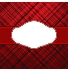 tartan vintage card vector image vector image