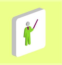 teacher computer symbol vector image