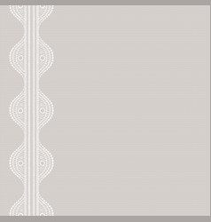 Textile print canvas with lacy seamless abstract vector