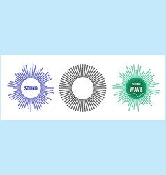 the musical symbol circular equalizer vector image