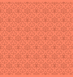 thin line leaves seamless pattern design vector image