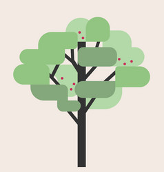 tree flat style vector image