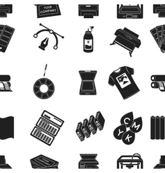 Typography pattern icons in black style Big vector