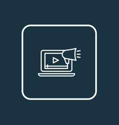 video marketing icon line symbol premium quality vector image