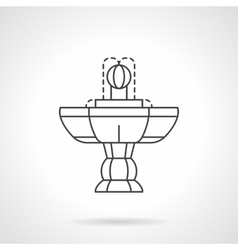 Vintage fountain flat line icon vector image