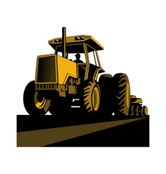 vintage tractor on isolated background vector image vector image