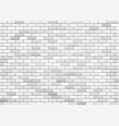 White brick wall texture background vector